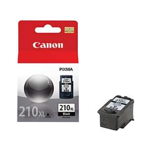 Genuine Brand Canon PG-210XL inkjet cartridge - high capacity pigmented black