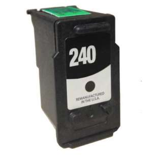 Remanufactured Canon PG-240 inkjet cartridge - black cartridge