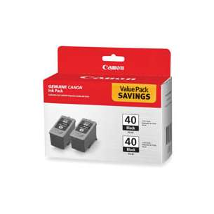 Genuine Brand Canon 0615B013 (PG-40) Multipack - 2 pack