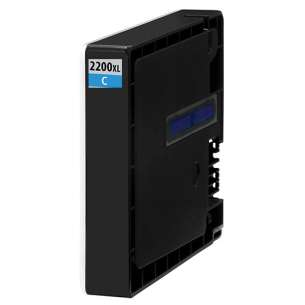 Compatible ink cartridge to replace Canon PGI-2200C XL - high capacity cyan