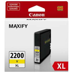 Genuine Brand Canon PGI-2200Y XL inkjet cartridge - yellow