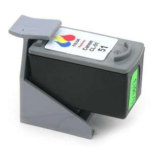 Remanufactured Canon CL-51 inkjet cartridge - color cartridge