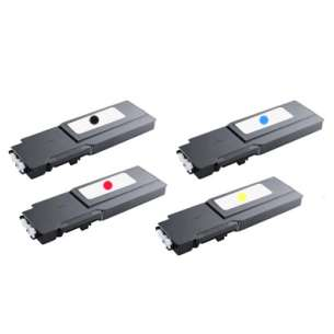 Compatible for Dell 331-8429 / 331-8432 / 331-8431 / 331-8430 toner cartridges - extra high capacity - 4-pack