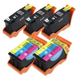 Compatible inkjet cartridges Multipack for Dell Series 21, 22, 23, 24 - high capacity - 5 pack