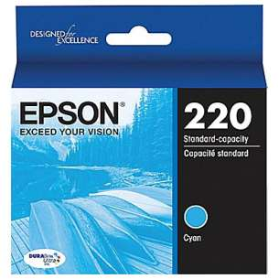Original Epson T220220 (220 ink) inkjet cartridge - cyan