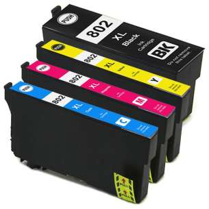 Remanufactured inkjet cartridges Multipack for Epson 802XL - 4 pack