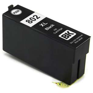 Remanufactured Epson T802XL120 (802XL) inkjet cartridge - high capacity black