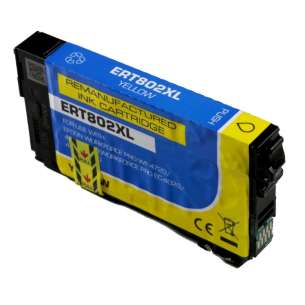 Remanufactured Epson T802XL420 (802XL) inkjet cartridge - high capacity yellow