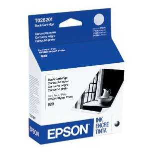 Original Epson T026201 inkjet cartridge - black cartridge