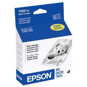 Original Epson T036120 inkjet cartridge - black cartridge