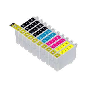 Remanufactured inkjet cartridges Multipack for Epson 69 - 10 pack
