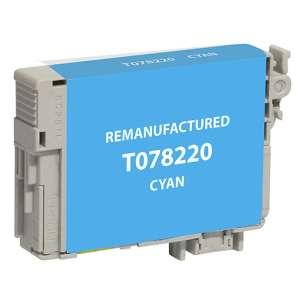 Remanufactured Epson T078220 (78 ink) inkjet cartridge - cyan