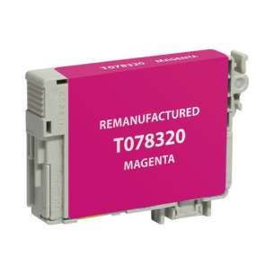 Remanufactured Epson T078320 (78 ink) inkjet cartridge - magenta