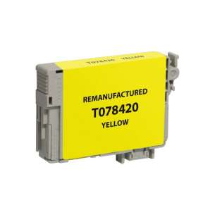 Remanufactured Epson T078420 (78 ink) inkjet cartridge - yellow