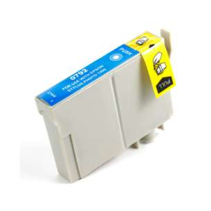 Remanufactured Epson T079220 (79 ink) inkjet cartridge - high capacity cyan