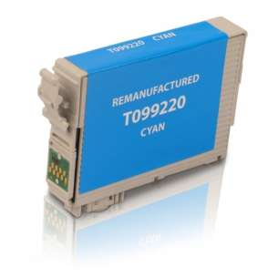 Remanufactured Epson T099220 (99 ink) inkjet cartridge - cyan