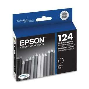 Original Epson T124120 (124 ink) inkjet cartridge - black cartridge