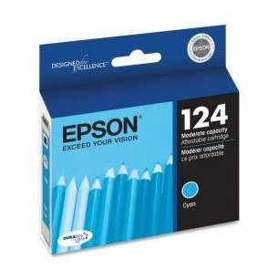 Original Epson T124220 (124 ink) inkjet cartridge - cyan