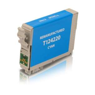 Remanufactured Epson T124220 (124 ink) inkjet cartridge - pigmented cyan