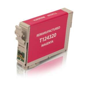 Remanufactured Epson T124320 (124 ink) inkjet cartridge - pigmented magenta