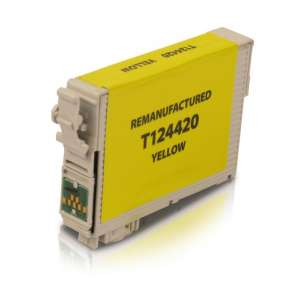 Remanufactured Epson T124420 (124 ink) inkjet cartridge - pigmented yellow