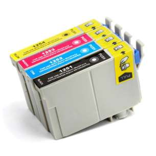 Remanufactured inkjet cartridges Multipack for Epson 125 - 4 pack