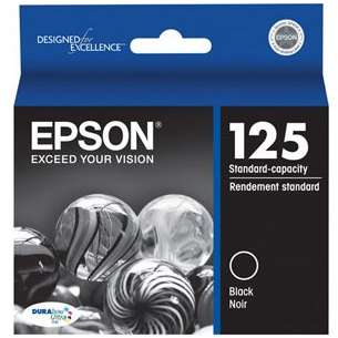 Original Epson T125120 (125 ink) inkjet cartridge - black cartridge