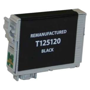 Remanufactured Epson T125120 (125 ink) inkjet cartridge - pigmented black