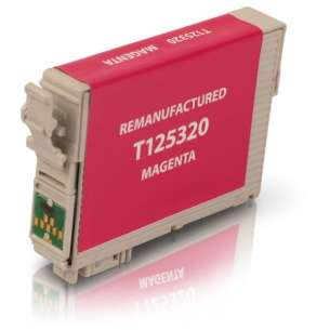 Remanufactured Epson T125320 (125 ink) inkjet cartridge - pigmented magenta