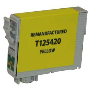 Remanufactured Epson T125420 (125 ink) inkjet cartridge - pigmented yellow