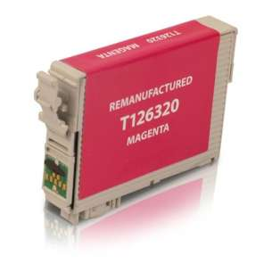 Remanufactured Epson T126320 (126 ink) inkjet cartridge - high capacity pigmented magenta