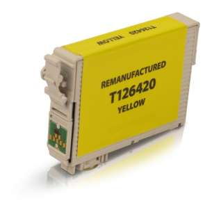 Remanufactured Epson T126420 (126 ink) inkjet cartridge - high capacity pigmented yellow