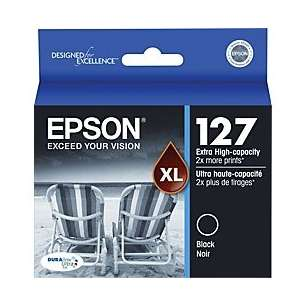 Original Epson T127120 (127 ink) inkjet cartridge - extra high capacity black