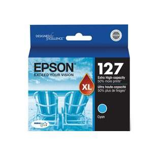 Original Epson T127220 (127 ink) inkjet cartridge - extra high capacity cyan
