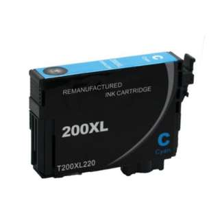 Remanufactured Epson T200XL220 (200XL ink) inkjet cartridge - high capacity cyan (not for Epson XP-310 or Epson XP-410)