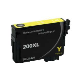Remanufactured Epson T200XL420 (200XL ink) inkjet cartridge - high capacity yellow (not for Epson XP-310 or Epson XP-410)