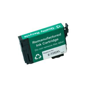 Remanufactured Epson T252XL220 (252XL ink) inkjet cartridge - high capacity cyan