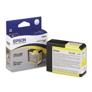 Original Epson T580400 inkjet cartridge - yellow