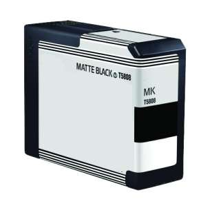 Compatible ink cartridge to replace Epson T580800 - matte black