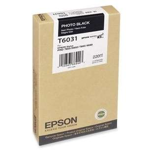Original Epson T603100 inkjet cartridge - ultrachrome photo black