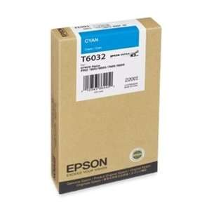 Original Epson T603200 inkjet cartridge - ultrachrome cyan