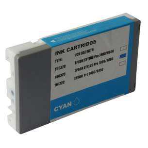Compatible ink cartridge to replace Epson T603200 - ultrachrome cyan