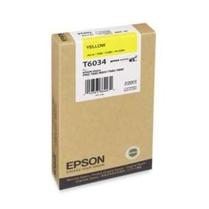 Original Epson T603400 inkjet cartridge - ultrachrome yellow