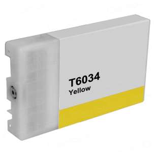 Compatible ink cartridge to replace Epson T603400 - ultrachrome yellow