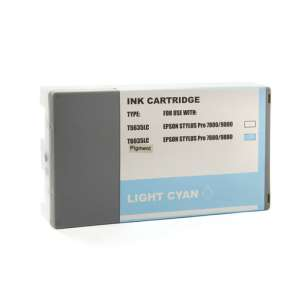 Compatible ink cartridge to replace Epson T603500 - ultrachrome light cyan