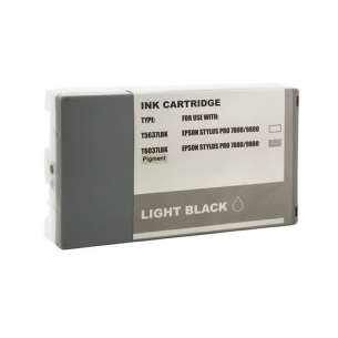 Compatible ink cartridge to replace Epson T603700 - ultrachrome light black