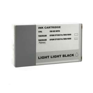 Compatible ink cartridge to replace Epson T603900 - ultrachrome light light black
