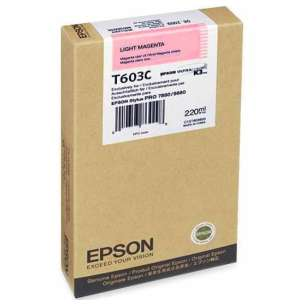 Original Epson T603C00 inkjet cartridge - ultrachrome light magenta