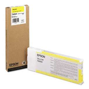 Original Epson T606400 inkjet cartridge - ultrachrome yellow
