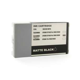 Compatible ink cartridge to replace Epson T612800 - ultrachrome matte black